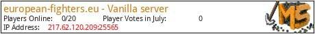 Minecraft Server european-fighters.eu